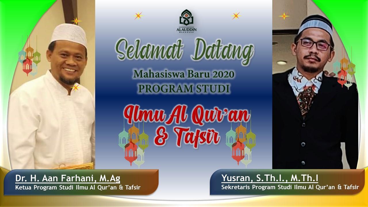 Selamat Datang Calon Mufassir di Prodi Ilmu al-Qur'an dan Tafsir Fakultas Ushuluddin dan Filsafat